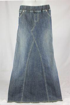 Size 16 Long denim skirt by JCsRecreated on Etsy, $40.00 ...