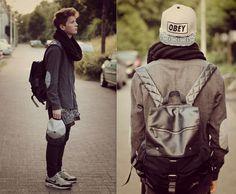 Zara Shirt, Obey Diy Patterned Snapback, Nike Air Max 1