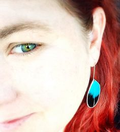 """Sterling Silver and resin feather earrings by Melanie Augustin.  """"Spirit Feathers"""" - let your spirit soar!"""