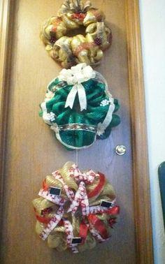 Trio of wreaths