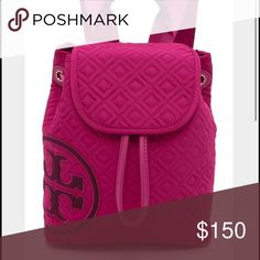 Tory Burch Penn Quilted backpack Tory Burch Penn Quilted backpack. Raspberry color. Tags still on. Never used. Willing to trade for a MK watch or a Tory Burch purse or some form of Tory Burch shoes size 7 Tory Burch Bags Backpacks