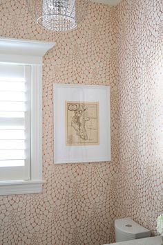 Relativity Textiles Wallpaper: It's been a few months since we added Relativity Textiles wallpaper to our powder room and I'm excited to share the results.