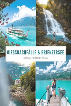 Giessbachfälle & Brienzersee Schifffahrt: TOP Ausflugstipp im Berner Oberland (BE) – Join in the world of pin Places In Switzerland, Switzerland Vacation, Weekend Trips, Day Trips, Autumn Lake, Lake Photography, Europe Travel Guide, Secret Places, Vacation Destinations