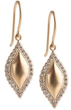 Jaime Wolf's, Scallop Edge Marquis earrings {As Seen on Anna Kendrick}