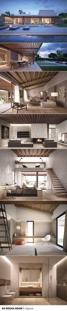 ARCHITECTURE AND INTERIOR DESIGN IN ALGARVE by LUV. Architecture, landscaping, interior design, engineering, setting and styling for a house located on top of a cliff.