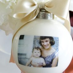 Custom ornament from the Picture Globe Company. Hand made in Washington State. www.pictureglobe.com
