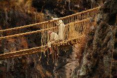 Spectacular Peruvian Rope Bridge
