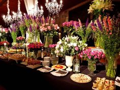 Buffet, Table Settings, Table Decorations, Ideas, Home Decor, Decorations, Desserts, Wedding, Flowers