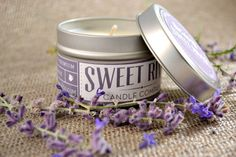 Black Amber and Lavender  4 ounce in Tin Soy by SweetRiverCandleCo, $6.00