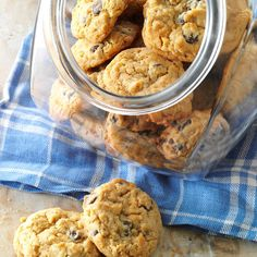 """Chocolate Chip Peanut Butter Cookies Recipe -""""Here's a different version of the traditional favorite cookie that I think is especially good,"""" notes Clarice Schweitzer of Sun City, Arizona."""