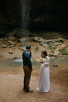Sunrise Elopement at Ash Cave Waterfall in Hocking HIlls State Park, Ohio. Elopement Inspiration, Wedding Photo Inspiration, State Parks, Serenity, Ohio, Destination Wedding, Sunrise, Waterfall, Wedding Photos