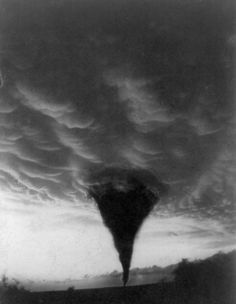 1898 Photograph - Oklahoma: Tornado, by Granger -- I've seen this one photoshopped numerous times, so I'm glad to hopefully find the original. Tornados, Thunderstorms, All Nature, Science And Nature, Amazing Nature, Severe Weather, Extreme Weather, Natural Phenomena, Natural Disasters