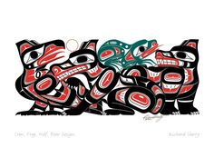 Crow, Frog, Wolf, Bear Design | Richard Shorty