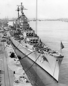 USS Los Angeles (CA 135) at Mare Island 20 July 1954
