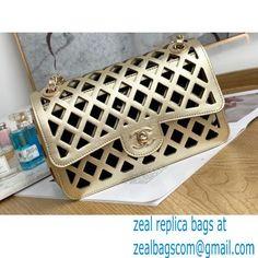 Chanel See Through Perforated Calfskin Flap Bag AS2370 Metallic Gold 2021 Miu Miu Handbags, Balenciaga Handbags, Valentino Handbags, Chloe Handbags, Burberry Handbags, Bvlgari Handbags, Goyard Bag, Dolce And Gabbana Handbags, Luxury Bags
