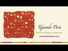Punto fantasía # 30 tejido a crochet: varetas cruzadas - YouTube