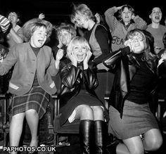 Beatlemania - oh yeah. As a little girl, I remember those older girls going nuts and I would think what's wrong with them, haven't they ever been around boys before. I had three older brothers.