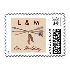 Native American Wedding Postage