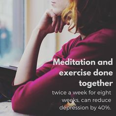 Research has found that when meditation and exercise were done together twice a…