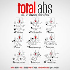« Total abs workout by: Neila Rey #sixpackfemmes »