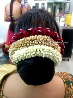 For bridal makeover contact 9550750336 Real Flowers, Flowers In Hair, Rose Bun, South Indian Bride Hairstyle, Bridal Makeover, Hair Knot, Bride Hairstyles, Indian Bridal, Bridal Accessories