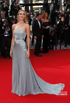 Actresses Sharon Stone, Marion Cotillard and Berenice Bejo walked the red carpet on day 8 of the ongoing Cannes Film Festival. Rosie Huntington Whiteley, Diva Fashion, All Fashion, Star Fashion, Celebrity Red Carpet, Celebrity Dresses, Celebrity Style, Marion Cotillard, Jessica Chastain