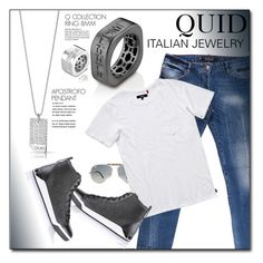 """""""QUIDLINE.com"""" by monmondefou ❤ liked on Polyvore featuring Philipp Plein, Ray-Ban, Banks, Diesel, men's fashion, menswear and quidline"""