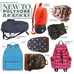 """""""New to Polyvore: 8 Backpacks Totally Worth Carrying"""" by polyvore-editorial on Polyvore"""