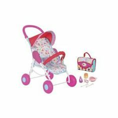 Fisher Price Little Mommy Travel Set by Fisher Price. $37.99. Pretend time. Changer mat. Travel Bag. 6 accessories. Playful toybar. Designed for dolls up to 16 inches, this travel set features a deluxe stroller with a toy bar and sun canopy. The handy travel bag folds out into a changing pad. Six baby care accessories, including a bottle, fruit jar, bowl, pacifier, fork and spoon, are included.
