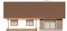 Elewacja tylna projektu Talia mała Malaga, Dom, Garage Doors, Curtains, Outdoor Decor, Home Decor, Projects, Blinds, Decoration Home