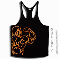 BODYBUILDING SPORT BICEP MUSCLE MAN Y BACK STRINGER VEST O SIZES S M L XL & XXL