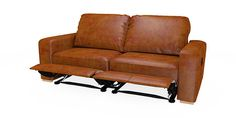 Buy Armitage leather Recliner large sofa (3 seats) Cuba Dark Tan Corner Foot - Light from the Next UK online shop