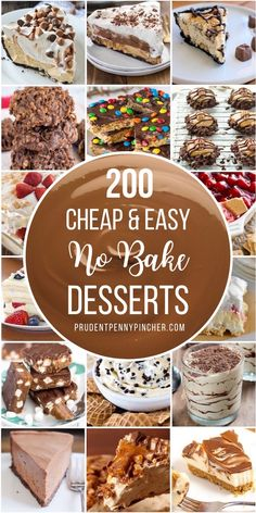 Satisfy your sweet tooth with one of these cheap and easy no bake desserts. From quick no bake cookies to decadent chocolate and peanut butter pies, there are plenty of summer dessert recipes that are perfect for a crowd. Easy Summer Desserts, Summer Dessert Recipes, Desserts For A Crowd, Easy No Bake Desserts, Köstliche Desserts, Great Desserts, No Bake Treats, Delicious Desserts, Cheesecake Desserts