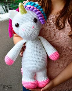 Patrón de Crochet en Inglés  Mimi El Unicornio Amigable  40