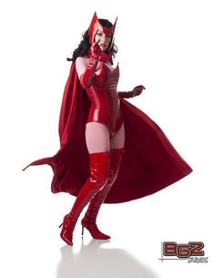 Character: Scarlet Witch (Wanda Maximoff) / From: MARVEL Comics 'Avengers' / Cosplayer: Meredith Placko (aka Ana Aesthetic) / Photo: BGZ Studios Scarlet Witch Avengers, Scarlet Witch Cosplay, Girls Twitter, Marvel Cosplay, Female Cosplay, Cosplay Tutorial, Geek Girls, Halloween Costumes For Kids, Cosplay Girls