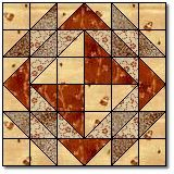 """Corn and Beans Quilt Block Pattern and Instructions12"""" block"""