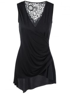 GET $50 NOW | Join RoseGal: Get YOUR $50 NOW!http://www.rosegal.com/blouses/sleeveless-lace-trim-asymmetrical-surplice-1072957.html?seid=i3p56g01h7jhiihs3pu87b2mj3rg1072957