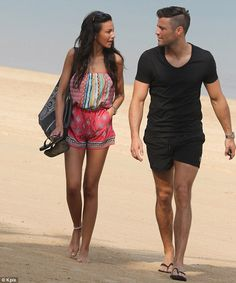 Michelle Keegan Displays Her Toned Pins In A Tribal Print Playsuit