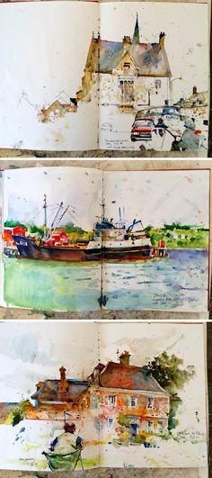 Charles Reid #watercolor #sketch