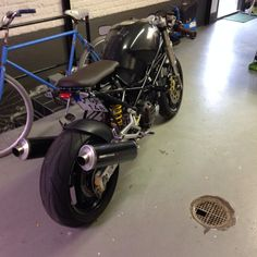 Ducati Monster 900 brat style Cafe Racer.