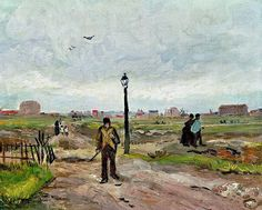 Outskirts of Paris. Vincent Van Gogh 1886. Oil on Canvas.