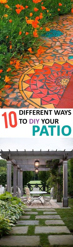 DIY Patio Options- Great projects and tutorials to make your patio amazing.