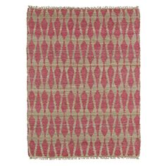 Handmade Natural Fiber Cayon Pink Rug (3'6 x 5'6) - 17066897 - Overstock.com Shopping - Great Deals on 3x5 - 4x6 Rugs