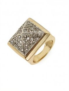 our newest cocktail ring: the pave pyramid stud!