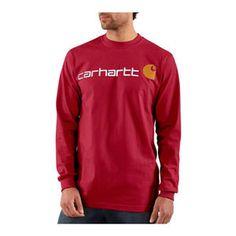 Carhartt Mens Long Sleeve Logo T-Shirt - Mills Fleet Farm