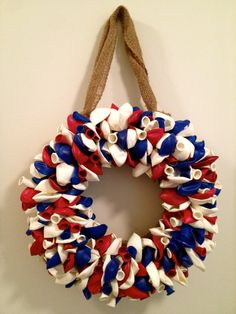 Welcome Home & 4th of July Wreath