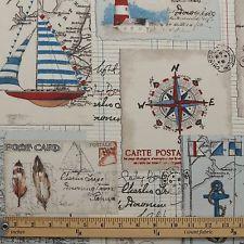 100% Coton Nautique Antique Carte Postale Vintage Coussin Rembourrage De Rideau