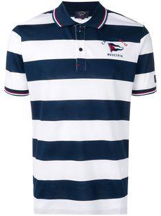 Paul & Shark Striped Polo Shirt In Blue Polo Tees, Men's Polo, Polo Shirt Design, Boys Summer Outfits, Paul Shark, Camisa Polo, Striped Polo Shirt, Casual Attire, Size Clothing