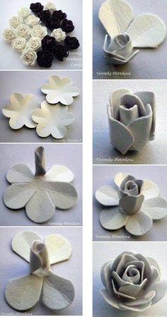 DIY Paper Art Rose: Día de San Valentín se acerca, hacer un regalo especial para él (ella) una sorpresa que ~