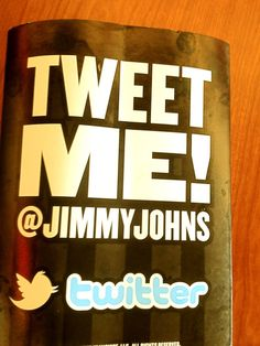 If this ad had a BestBuzz #QR code, not only would you tweet @Jimmy John's but you could get rewarded for doing so! Text BUZZ to 63566 to get the app and find out more!